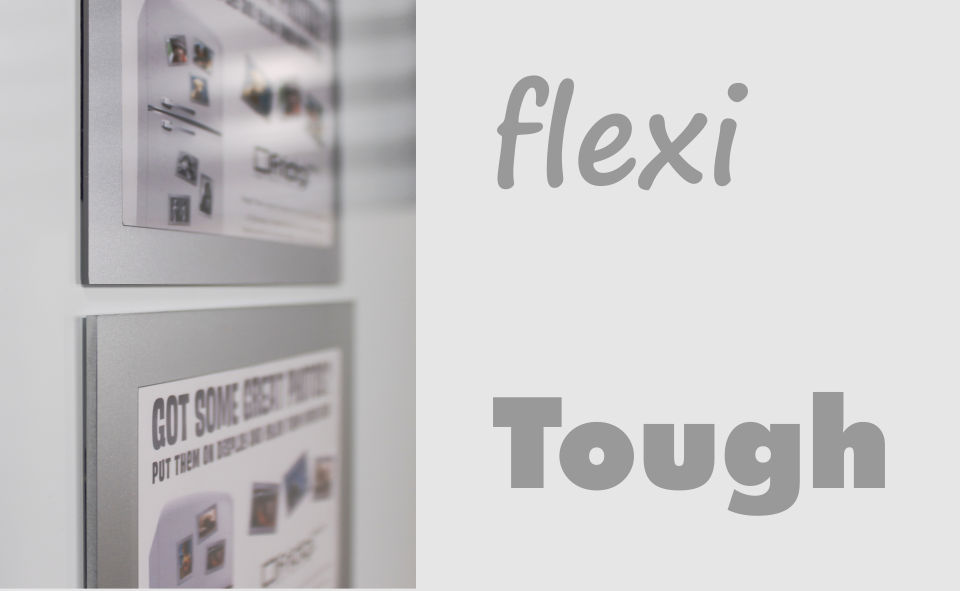 Flexi v Tough magnetic picture frames