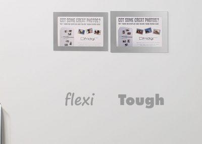 Front view Flexi v Tough silver magnetic frames