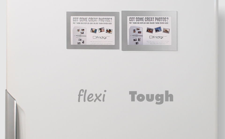 Front view Flexi v Tough silver magnetic frames
