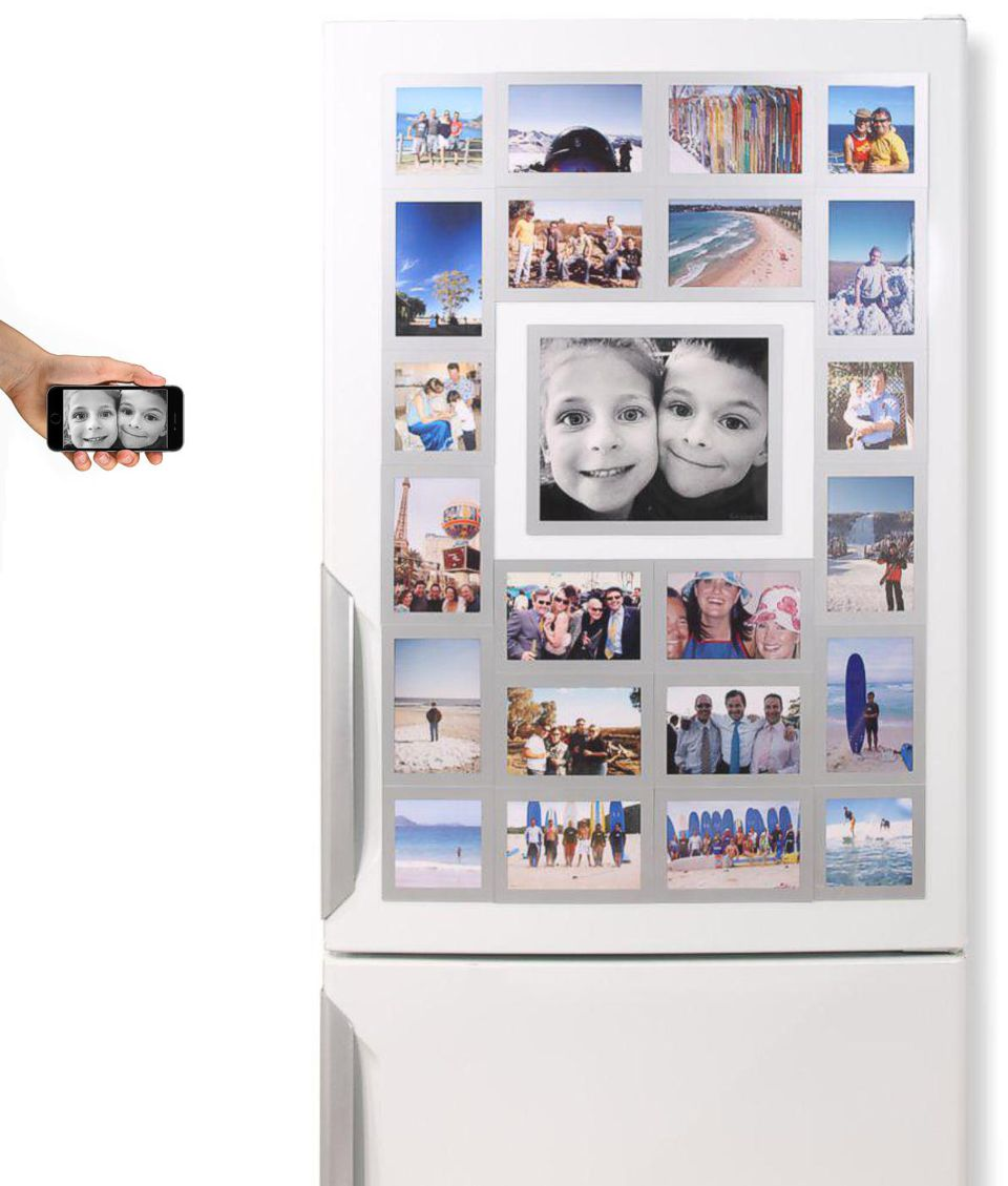 Its easy to get you photos off your phone & on the fridge with Fridgi Magnetic Photo Frames