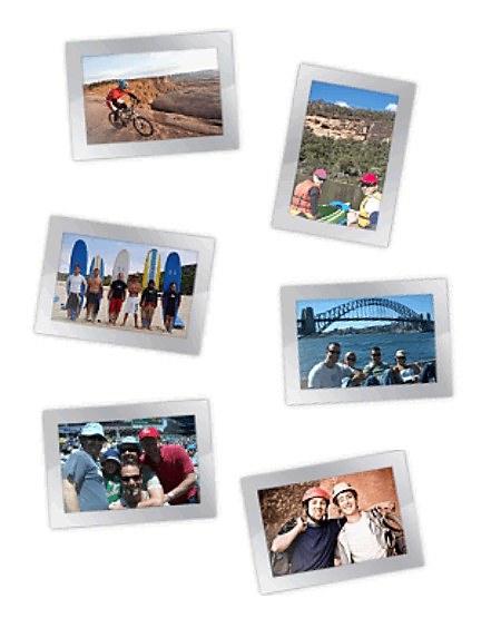 Magnetic Frames with photos to Inspire - travel & adventure