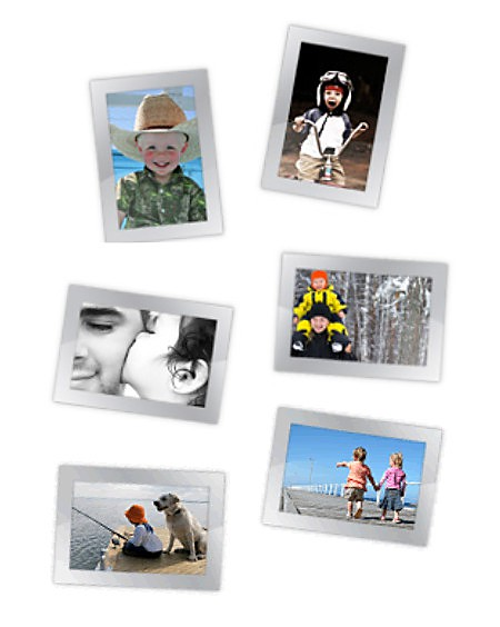 Magnetic Photo Frames with photos of kids doing all their favorite things