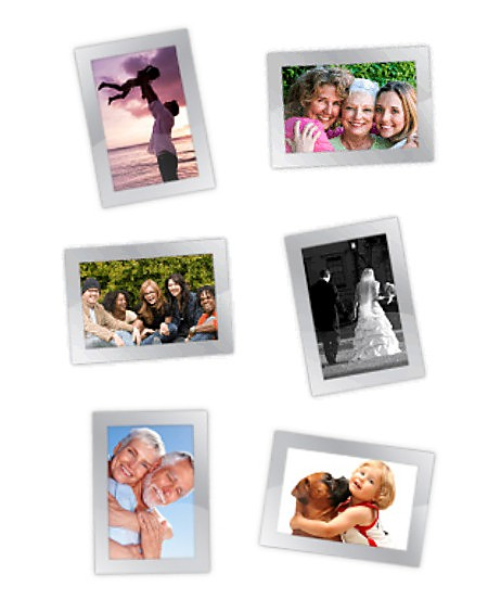 Magnetic Photo Frames with photos of the things that are important in your life