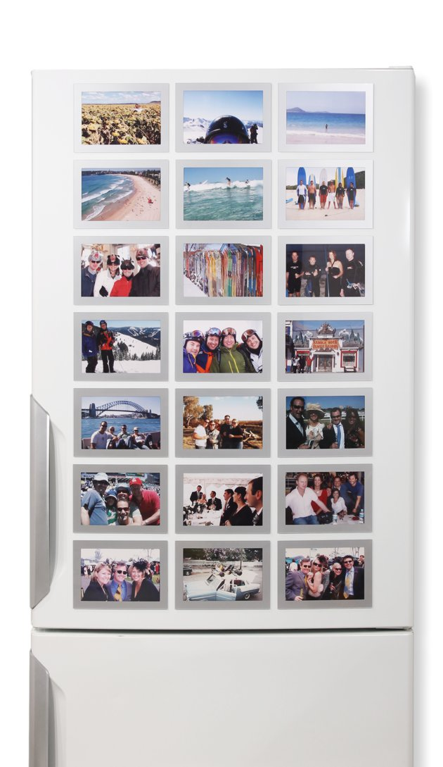 21 Silver Frames - Fridgi Flexi Magnetic Photo Frames