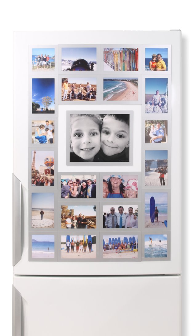 23 Silver Frames - Fridgi Flexi Magnetic Photo Frames