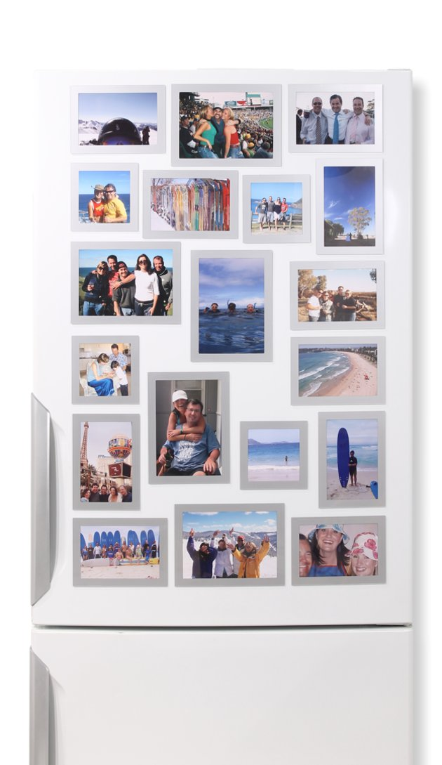 19 Silver Frames - Fridgi Flexi Magnetic Photo Frames