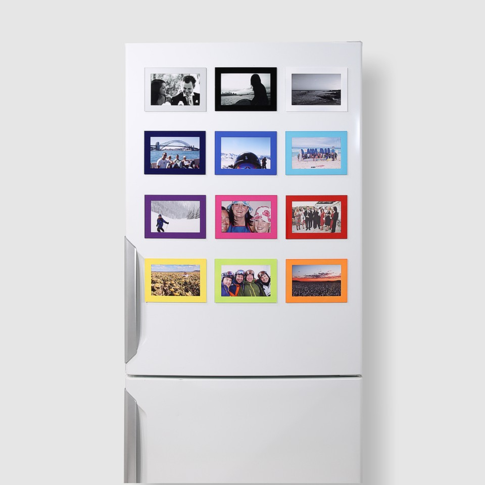 Tough 6x4 Magnetic Photo Frames on a Fridge