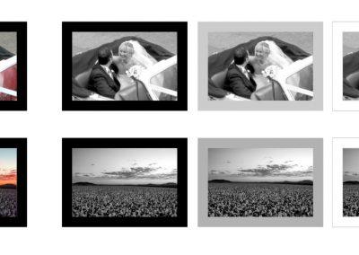 frame some black & white photos