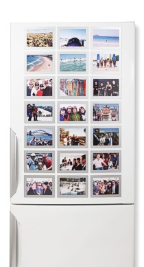 Silver Fridgi Magnetic Photo Frames on Fridge